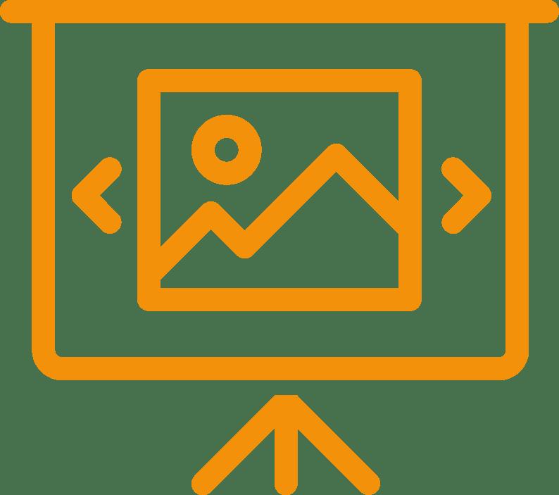 Pictogramme Support de présentation
