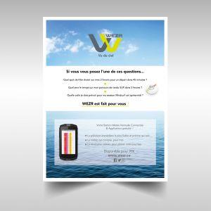 Création Visuel magazine Wezr